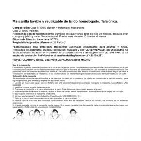 MASCARILLA HOMOLOGADA ANTIFASCISTA