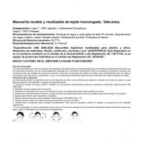 MASCARILLA HOMOLOGADA ESTRELLA BRIGADAS