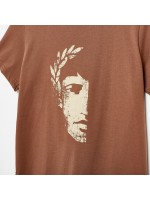 CAMISETA LOGO MARRON